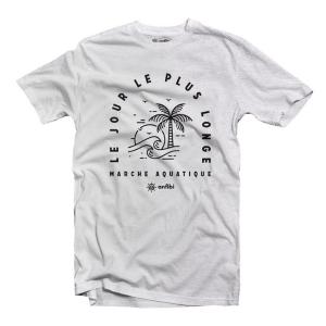 Tee-shirt Homme «Le jour le plus longe» Gris chiné, Anfibi