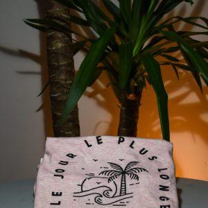 Tee-Shirt Femme «Le jour le plus longe» Rose chiné, Anfibi