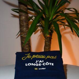 Tee-shirt Homme «Je peux pas j'ai longe-côte» Bleu Marine, Anfibi