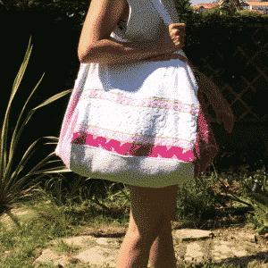 Sac de plage 100% Upcyclé « Pink Style » modèle unique